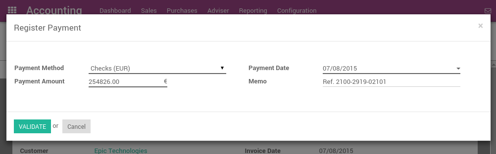 How To Accept Credit Card Payments On Invoices Odoo Business - Invoice credit card payment